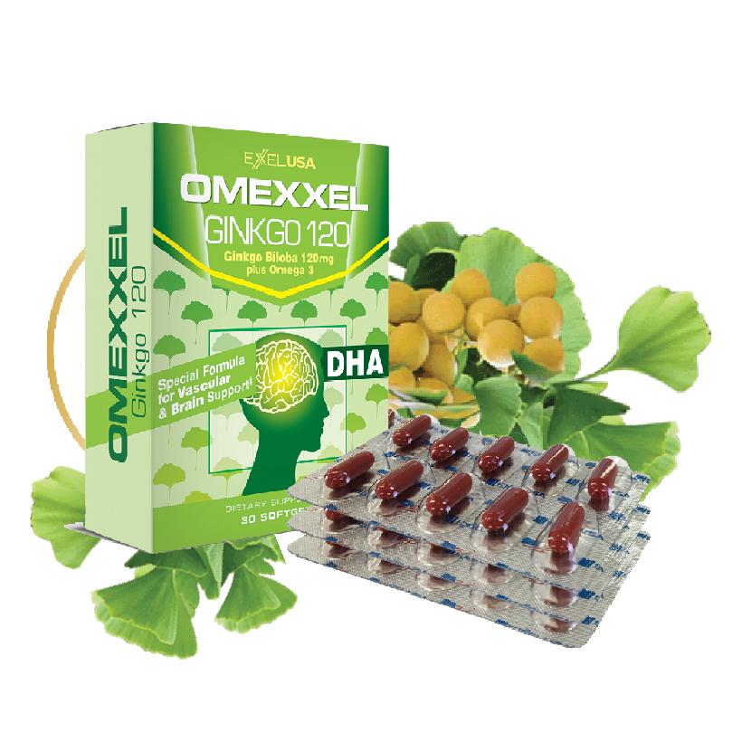 Viên uống hoạt huyết dưỡng não Omexxel Ginkgo 120