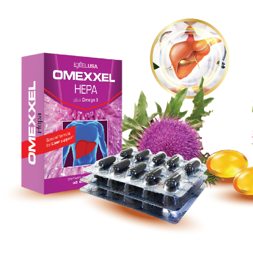 Viên uống bổ gan, tăng cường chức năng gan Omexxel Hepa