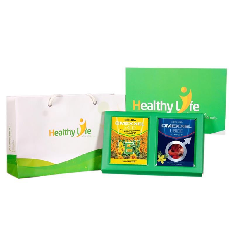Bộ Quà tặng hạnh phúc– Tăng cường sinh lý nam Omexxel Libido & làm đẹp da Omexxel E400