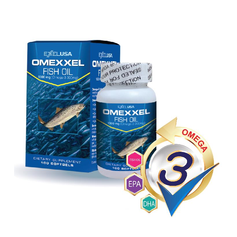 Viên uống dầu cá Omexxel Fish Oil 1000mg