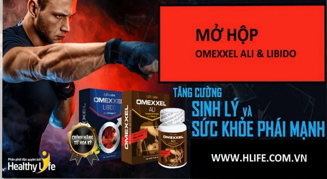 Mở hộp bộ đôi viên uống Tăng cường  sinh lý và sức khỏe nam giới Omexxel Ali & Libido